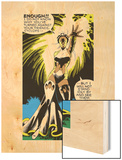 Marvel Comics Retro: X-Men Comic Panel, Storm Wood Print
