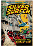 Marvel Comics Retro: Silver Surfer Comic Book Cover No.13 (aged) Posters