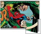 Marvel Comics Retro: The Amazing Spider-Man Comic Panel, the Vulture, Thop! (aged) Art