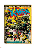 Marvel Comics Retro: The X-Men Comic Book Cover No.96, Fighting the Night Demon (aged) Plastic Sign