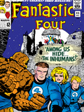 Marvel Comics Retro: Fantastic Four Family Comic Book Cover No.45, Among Us Hide the Inhumans! Poster