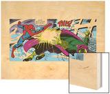 Marvel Comics Retro: The Amazing Spider-Man Comic Panel Wood Print