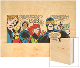 Marvel Comics Retro: X-Men Comic Panel Wood Print