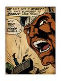Marvel Comics Retro: Luke Cage, Hero for Hire Comic Panel (aged) Plastic Sign