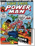 Marvel Comics Retro: Luke Cage, Hero for Hire Comic Book Cover No.25, Crime and Circus Print