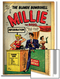 Marvel Comics Retro: Millie the Model Comic Book Cover No.53, Fashion Show Information Booth (aged) Plakater