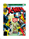 Marvel Comics Retro: The X-Men Comic Book Cover No.100, Professor X Plastic Sign