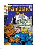 Marvel Comics Retro: Fantastic Four Family Comic Book Cover No.45, Among Us Hide the Inhumans! Plastic Sign