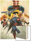 Thunderbolts No.170: Citizen V, Songbird, Mach-1, Meteorite, and Atlas Wood Print by Kev Walker