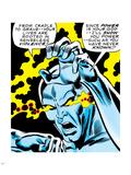 Marvel Comics Retro: Silver Surfer Comic Panel, Unleashing Power Plastic Sign