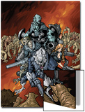 Nick Furys Howling Commandos No.4 Cover: Warwolf Prints by Eric Canete