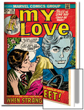 Marvel Comics Retro: My Love Comic Book Cover No.20, Kissing, When Strangers meet! (aged) Prints