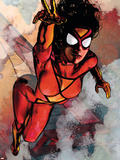 Spider-Woman No.5 Cover: Spider Woman Plastic Sign by Alex Maleev