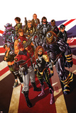 Revolutionary War: Alpha 1 Cover: Captain Britain, Angel, Killpower, Wisdom, Pete, Colonel Liger Plastic Sign by Mark Brooks