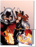 Onslaught Unleashed No.2 Cover: Black Widow, Gravity, Firestar, and Ant-Man Running Prints by Humberto Ramos