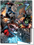 Guardians Of The Galaxy No.8 Group: Rocket Raccoon, Major Victory, Bug and Mantis Posters by Brad Walker
