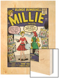 Marvel Comics Retro: Millie the Model Comic Book Cover No.100, How Millie First Met Chili! (aged) Wood Print
