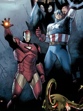 Siege No.1 Cover: Iron Man, Captain America and Thor Plastic Sign by Olivier Coipel