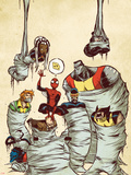 Marvel Adventures Spider-Man No.59 Cover: Spider-Man Plastic Sign by Skottie Young