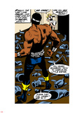 Marvel Comics Retro: Luke Cage, Hero for Hire Comic Panel Plastic Sign