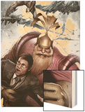 Siege: Embedded No.2 Cover: Volstagg, Wolverine and Spider-Man Wood Print by Adi Granov