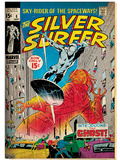 Marvel Comics Retro: Silver Surfer Comic Book Cover No.8, the Ghost (aged) Art