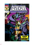 War Of Kings: Darkhawk No.1 Cover: Darkhawk Plastic Sign by Mike Manley