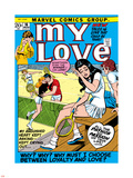 Marvel Comics Retro: My Love Comic Book Cover No.16, Tennis, Pathos and Passion Plastic Sign