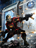 Guardians Of The Galaxy No.9 Cover: Star-Lord Plastic Sign by Clint Langley