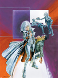 Sable & Fortune No.2 Cover: Silver Sable Plastic Sign by John Burns