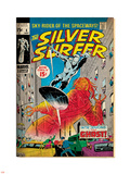 Marvel Comics Retro: Silver Surfer Comic Book Cover No.8, the Ghost (aged) Plastic Sign