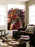 Revolutionary War: Alpha 1 Cover: Captain Britain, Angel, Killpower, Wisdom, Pete, Colonel Liger Wall Mural by Mark Brooks