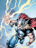 Marvel Adventures Super Heroes No.7 Cover: Thor Plastic Sign by Salvador Espin