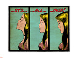 Marvel Comics Retro: Love Comic Panel, Crying, It's All Over! (aged) Plastic Sign