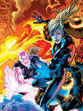 Ultimate Doom No.3 Cover: Invisible Woman and Ben Grimm Plastic Sign by Bryan Hitch