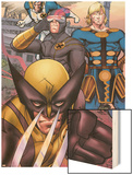 Eternals No.7 Group: Ikaris, Wolverine and Cyclops Wood Print by Eric Nguyen