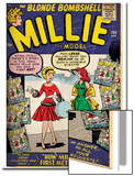 Marvel Comics Retro: Millie the Model Comic Book Cover No.100, How Millie First Met Chili! (aged) Plakater