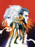 Sable & Fortune No.1 Cover: Silver Sable, Fortune and Dominic Fighting Wall Decal by John Burns