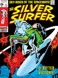 Marvel Comics Retro: Silver Surfer Comic Book Cover No.11, Bitter Victory Poster