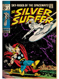 Marvel Comics Retro: Silver Surfer Comic Book Cover No.4, Thor (aged) Posters