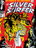 Marvel Comics Retro: Silver Surfer Comic Book Cover No.3, Fighting Mephisto Print