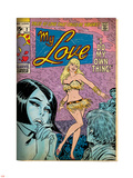 Marvel Comics Retro: My Love Comic Book Cover No.2, Crying and Dancing (aged) Plastic Sign
