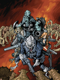 Nick Furys Howling Commandos No.4 Cover: Warwolf Plastic Sign by Eric Canete