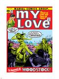 Marvel Comics Retro: My Love Comic Book Cover No.14, Woodstock Plastic Sign