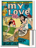 Marvel Comics Retro: My Love Comic Book Cover No.16, Tennis, Pathos and Passion (aged) Prints