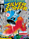Marvel Comics Retro: Silver Surfer Comic Book Cover No.8, the Ghost Prints