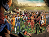 Fear Itself: Youth in Revolt No.1: Gravity, Firestar, Komodo, Hardball, Thor Girl, and Ultragirl Wall Decal by Mike Norton