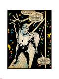 Marvel Comics Retro: Silver Surfer Comic Panel (aged) Wandtattoo