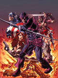 Hawkeye: Blind Spot No.1 Cover: Hawkeye Shooting his Bow and Aroow in front of Flames Plastic Sign by Mike Perkins