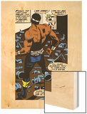 Marvel Comics Retro: Luke Cage, Hero for Hire Comic Panel Wood Print
